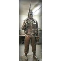 MAGNIFICENT* AMERICA'S SOLDIER STATUE SCULPTURE#2391290