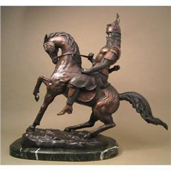 TARTAN KING WARRIOR ON HORSE BRONZE #2391302