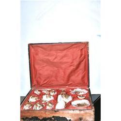 Rare Satsuma Tea Set  in Presentation Box #2391312