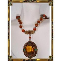 Vintage AUSTRO HUNGARIAN Jeweled Necklace #2391322