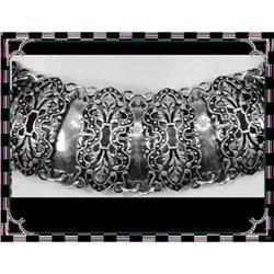 Victorian sterling enamel Collar necklace SET #2391325