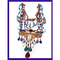 Vintage Czech EGYPTIAN figural  necklace #2391329