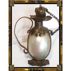 RARE Antique Georgian Shell Vinaigrette perfume#2391335