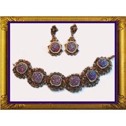Vintage DECO Signed Queens jewels Parure #2391339