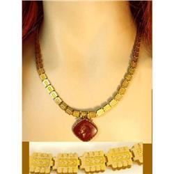 Victorian bookchain cameo medusa necklace #2391342