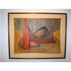 Abstract still life painting on board vibrant! #2391348