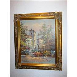 Eropean Painting Artist's signature L. Frost!  #2391356