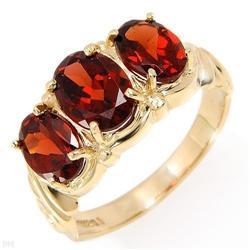 Elegant Ring With 3.10ctw Genuine Garnets #2391366