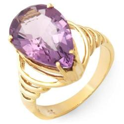 High Quality Ring With 4.90ctw Genuine Amethyst#2391368