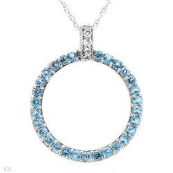 Pleasant Necklace With 0.52ctw Precious Stones #2391369