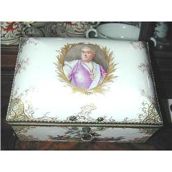 Large Meissen Box 1794 Emperor Austria #2391378