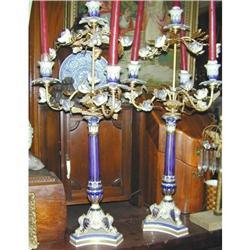 Pr. Sevres Porcelain and Gilt Bronze Candelabra#2391380