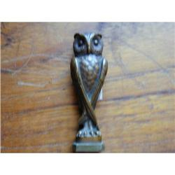 French 2nd Empire Bronze Bird (Owl) Seal #2391382