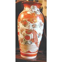 Antique Large Japanese Kutani Vase #2391385