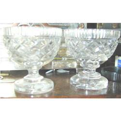 Pair Georgian Irish Cut Crystal Glasses #2391390