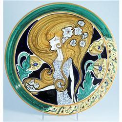 Italian Faience Majolica Wall Plate #2391396