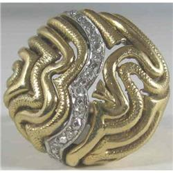 18k Ladies fashion Ring c1960 Diamonds #2090069#2391397