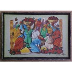 Haitian Painting  by Gerard Valcin 8X12 #2391408
