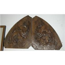 Pair of 19th Century Carved Reliefs #2391420