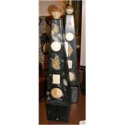 Pair of Art Deco Marble Obelisks #2391421