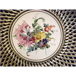Dresden Hand Painted Reticulated Bowl #2391426