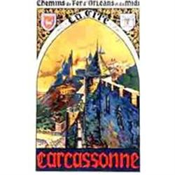 Original French Travel Poster, Carcassonne, #2391432