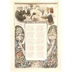Original Mucha Lithograph,  Le Bout Dela Table,#2391440