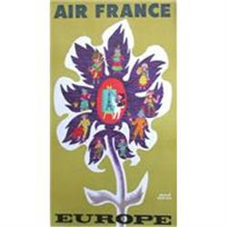 Original Air France poster by Morvan #2391449