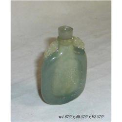 Chinese Green White Jade Fok Shou Snuff Bottle #2391464