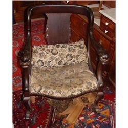 19c Duncan Phyfe Dolphin Handle Rocking Chair #2391474