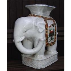 Asian  Majolica elephant Sculpture Statue Old  #2391479