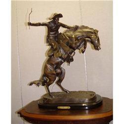 Remington Bronze Bronco Buster Sculpture Statue#2391484