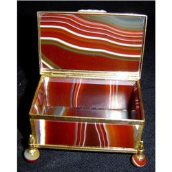 Scotch Agate and Bronze Footed Box #2391493