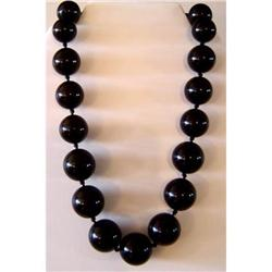 Antique Whitby Jet   Necklace #2391498