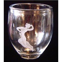 Semi-Nude Dancer - Orrefors Vase #2391499