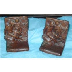 Bronze  WB Indian Father Son Bookends #2391504