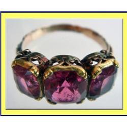 VICTORIAN 15K GOLD & PINK TOPAZ RING FABULOUS #2391508