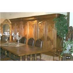 Triple Walnut Wood Armoire #2391518