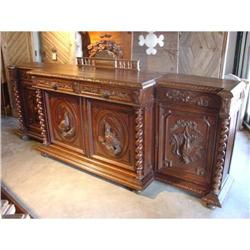 French Antique Louis XIII Style Hunting Buffet #2391524