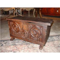 Antique French Gothic Style Trunk  #2391526