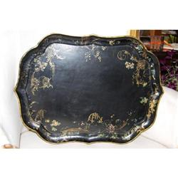 Antique Papier Mache Tray  Jennens & Bettridge #2381549