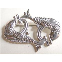 Los Castillos TaxcoSterling Fish Pin #2381556