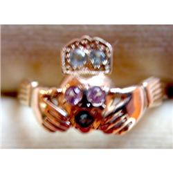 14K Irish Claddagh Wedding Ring #2381563