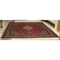 Kashan Persian Wool Rug Carpet Oriental #2381575