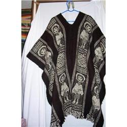 Antique Mexican Revolution Wool Poncho #2381576