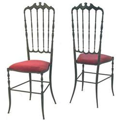 Set 6 Vintage Chiavari Brass Dining Chairs #2381579
