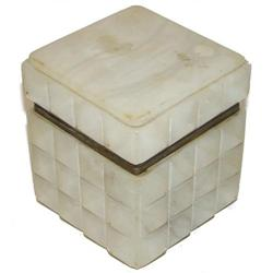 Antique Italian Carved Alabaster Jewel Box #2381598