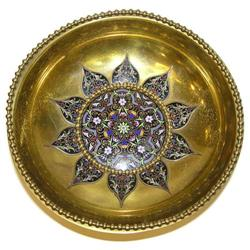 Champleve Enamelled Brass Bowl #2381600