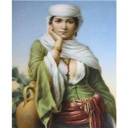 Orientalist Middle Eastern Porcelain Plaque #2381613