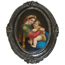 Plaque After RAPHAEL Painting of Mary & Jesus #2381616